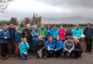 Photo: Taking a break in Lisvernane on Gerry Ryan's B walk on Slievenamuck, Sunday March 9th, 2014.