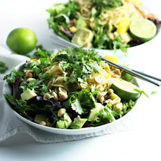 Thai Noodle Salad with Hot Chili Paste Dressing (V).
