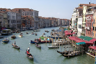 Photo: View from the bridge over the Grand Canal in Venice, Italy