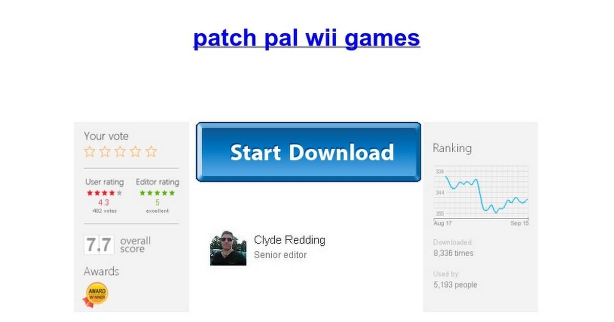 patch pal wii games - Google Docs