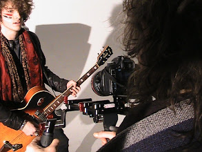 Photo: Mick Rock on set with SHAPE COMPOSITE STABILIZER