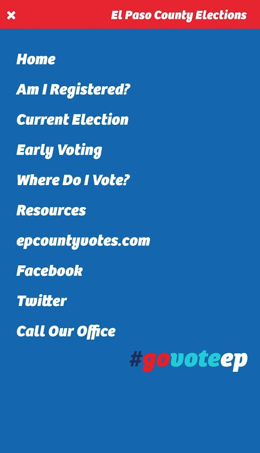 El Paso County Elections Department- screenshot