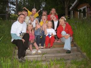 Photo: 20080709 Suomi-Ruotsi Virnistyksiä ja käsiä rappusilla
