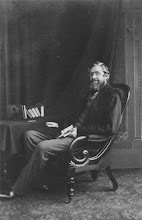 Photo: Alfred Russel Wallace possibly taken in c. 1869. At least two slightly different images resulted from this sitting. Photographer: Thomas Sims. Scanned from an original cdv. Copyright of scan: Royal Entomological Society, UK.