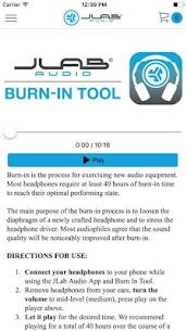 JLab Audio Burn-in Tool Apk 2