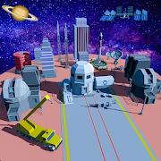 بناء الفضاء المدينة: بناء ألعاب الحرفية APK