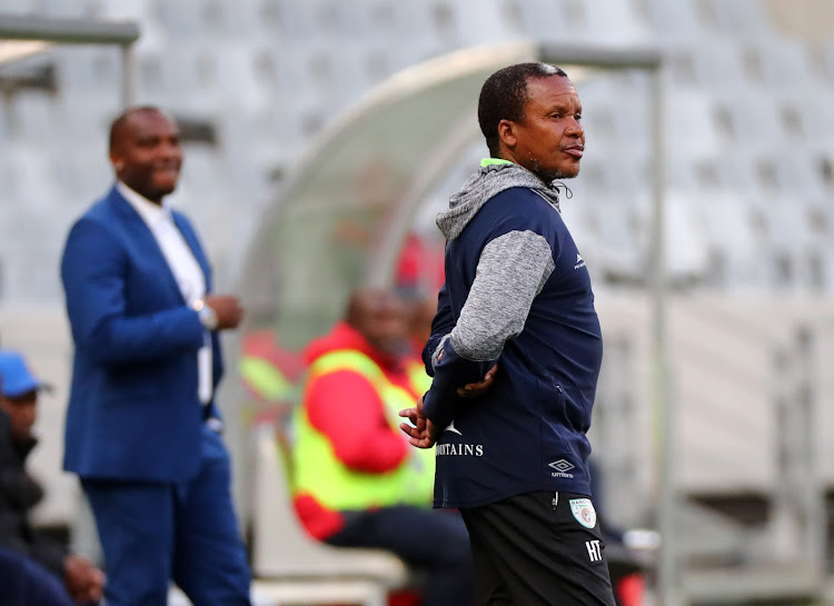 Kgoloko Thobejane, head coach of Baroka FC during the Absa Premiership 2017/18 football match between Cape Town City FC and Baroka FC at Cape Town Stadium, Cape Town on 21 November 2017.