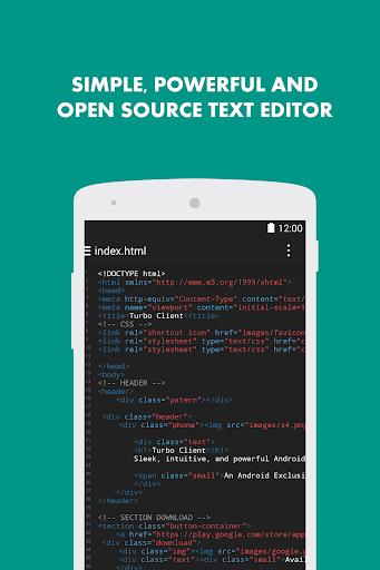 Turbo Editor // Text Editor 2.4 Screenshots 1