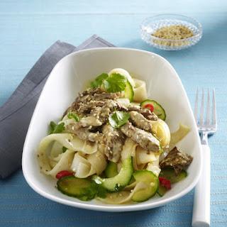 Sesame Beef Noodle Salad