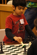 Photo: Praveer Sharan, the youngest player (by several years) in Bright Stars, section D, but Praveer is fearless and exceptionally experienced. He ended up tying for third out of fourteen.