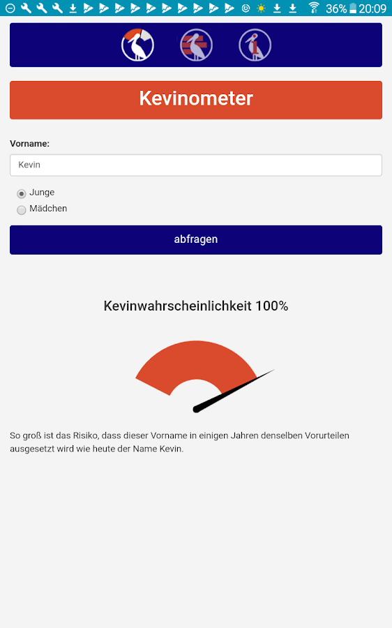 Kevinometer – Screenshot