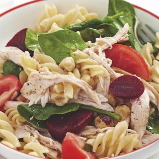 Chicken and Beet Pasta Salad.