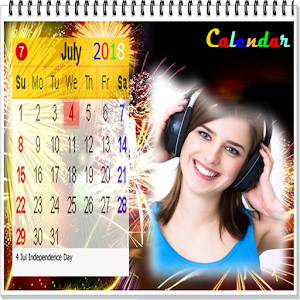 Calendar 2018 photo frame wallpaper
