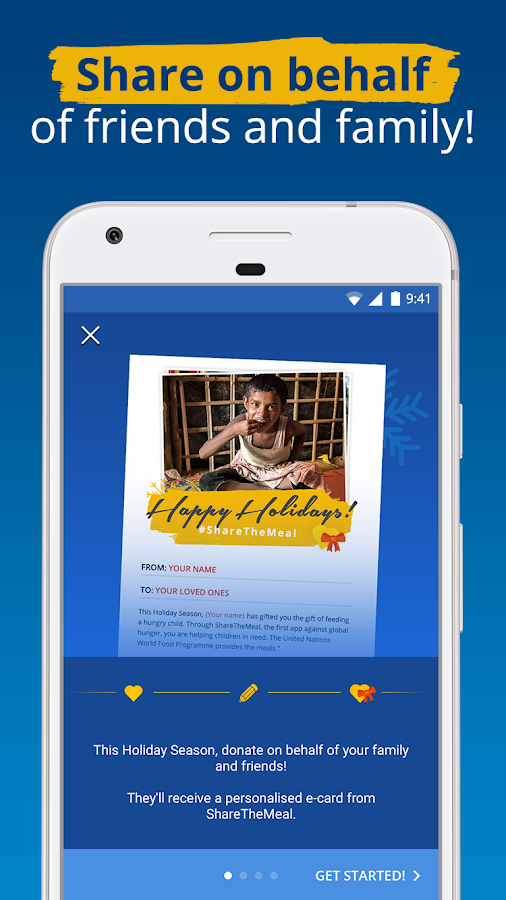 ShareTheMeal –by the United Nations WFP- screenshot