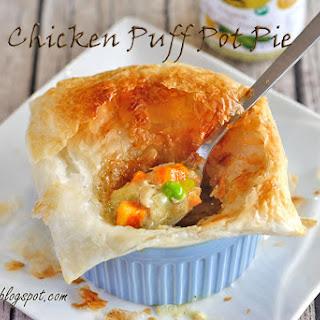 Pesto Chicken Puff Pot Pie