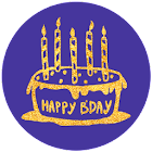 PG Bling Party - B Day Sticker Pack from PhotoGrid icon