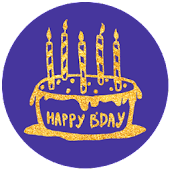 PG Bling Party - B Day Sticker Pack from PhotoGrid