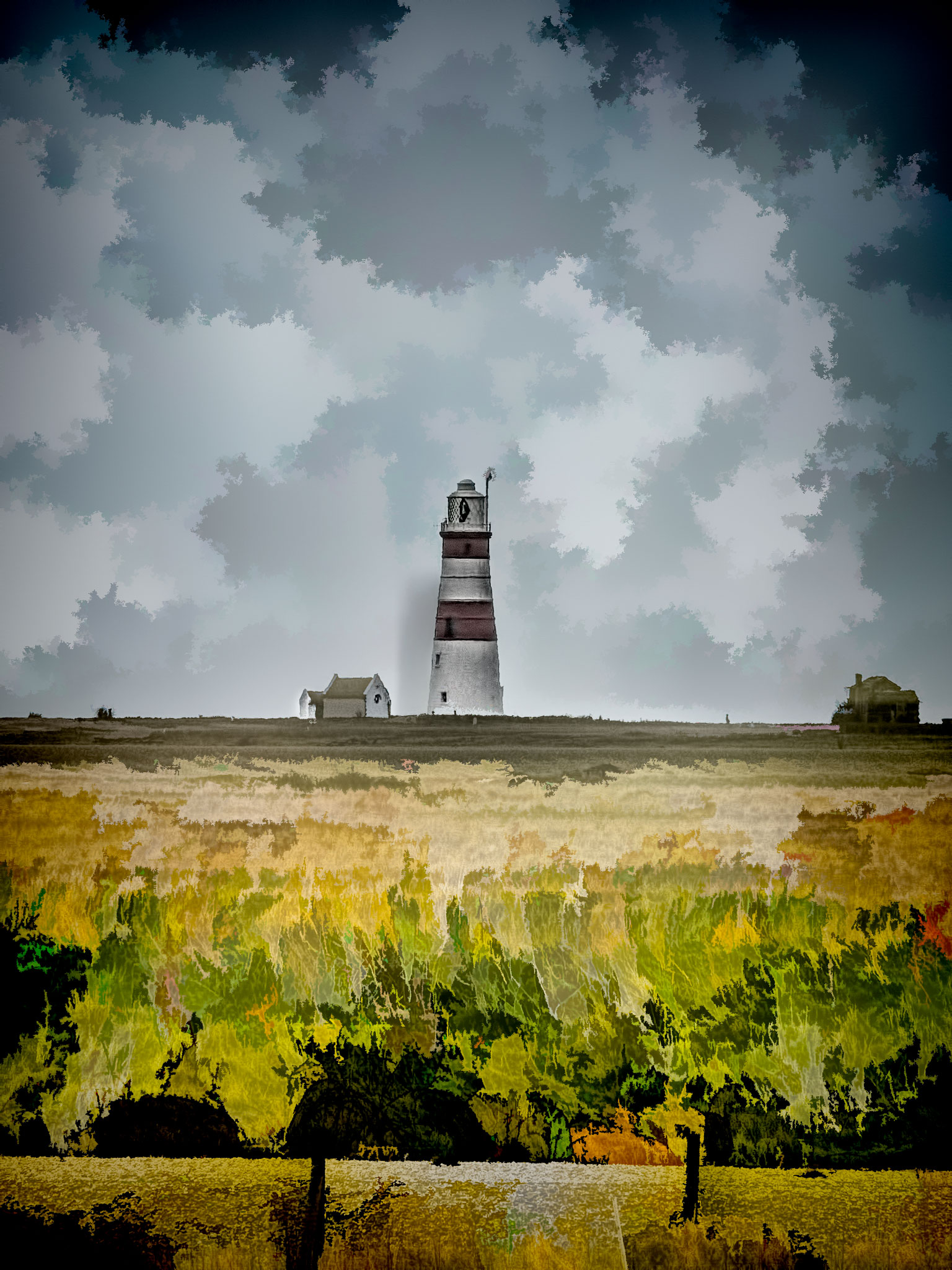 Photo: Orford Ness Lighthouse Orford, Suffolk, UK  I took, shall we say, a troubled photo. Underexposed, grainy, full of chroma noise. Yet I kind of liked it and always wished I had done a better job of it.  In the intervening years since the original JPEG capture (D'Oh!) #Photoshop , #Lightroom and various plugins have added marvelous capacity for rescuing what would otherwise be binned photos. I don't know about you, but I depend on that added capacity quite a bit.  This picture was run through Lightroom 5, then passed over to Photoshop CC as a smart object before applying #TopazDenoise , #TopazDetail5  and #TopazSimplify , in that order.  #Travel  #England  #Orford  #OrfordNess  #Lighthouse