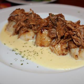 Seared Scallops with Pulled Pork ~ Genius of Joe Beef Recipe