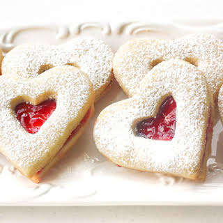 Raspberry and White Chocolate Shortbread Cookies.
