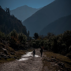 Miles by Akashneel Banerjee - Instagram & Mobile Other ( mountain, himalaya, nature, children, road )