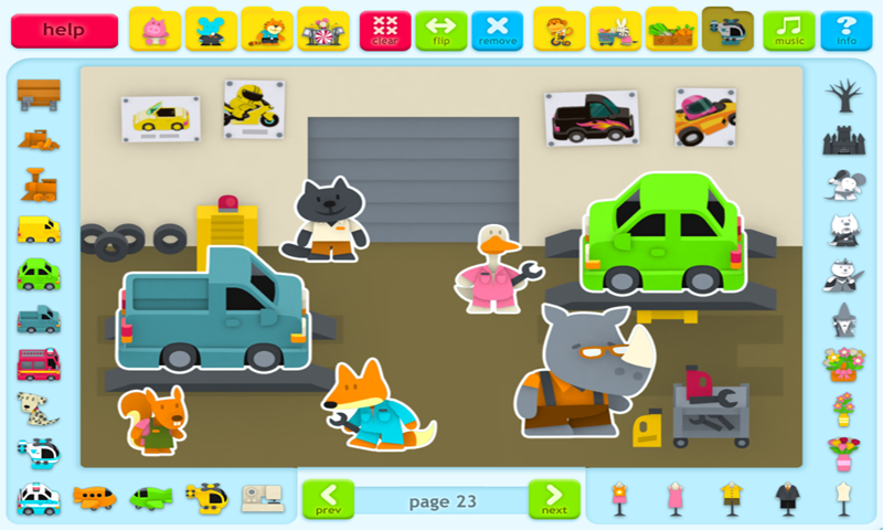 Sticker Book 3: Animal Town- screenshot