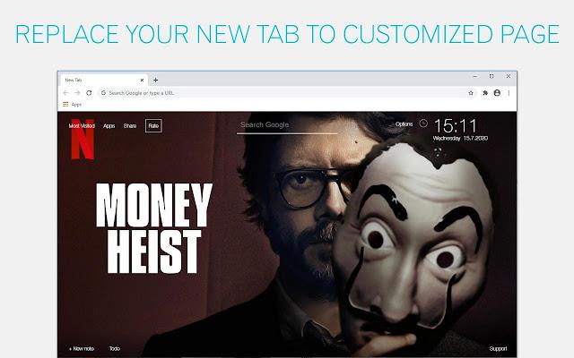 Money Heist Wallpapers HD New Tab
