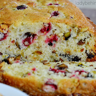 Cranberry, Plum and Pistachio Quick Bread.