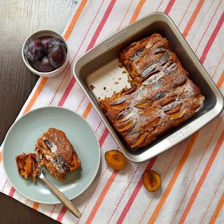 Spelt, Olive Oil,Yogurt, Prune Plum Cake