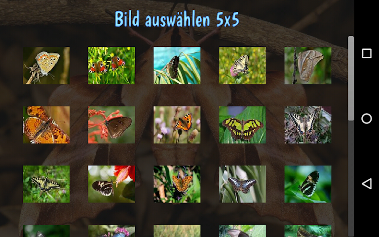 android Tile Puzzles · Butterflies Screenshot 4