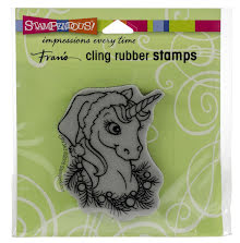 Stampendous Cling Stamp - Unicorn Christmas