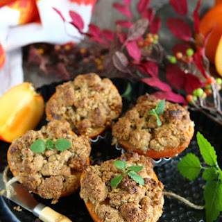 Baked Persimmons with Sunflower Seed Spelt Streusel
