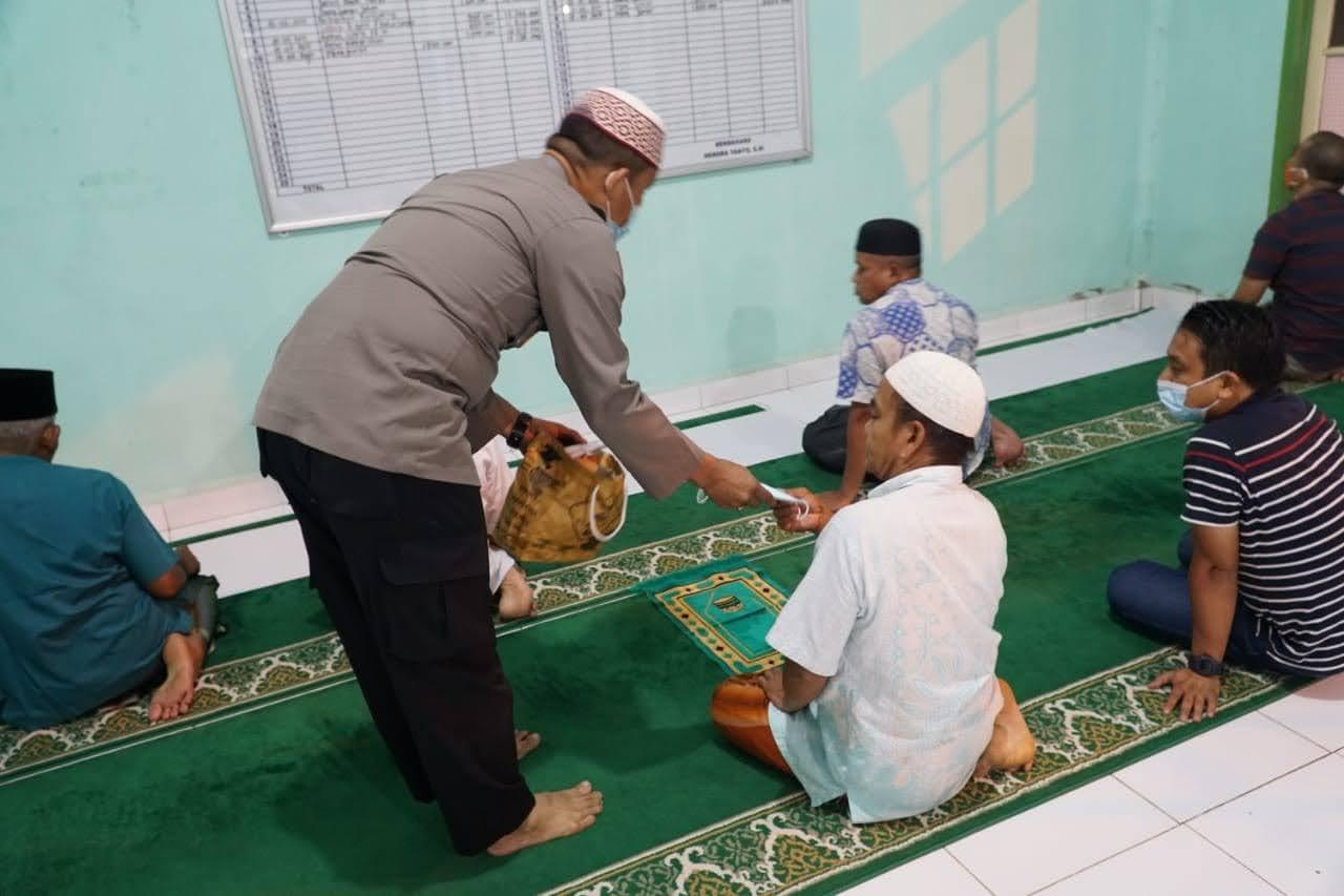 Giat Suling Di Mesjid Al Mukminin, Kapolres Rohul Himbau Taati Prokes, Ajak Jamaah Berdoa Dan Berikhtiar Agar Pandemi Usai