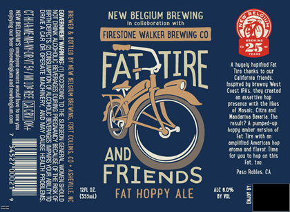 Logo of Fat Tire & Friends Fat Hoppy Ale