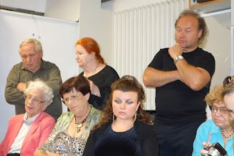 Photo: LIVE PERFORMANCE Vladimir Kiseljov am 4.9.2014. Das interessierte Publikum verfolgt die Performance. Foto: Peter Skorepa