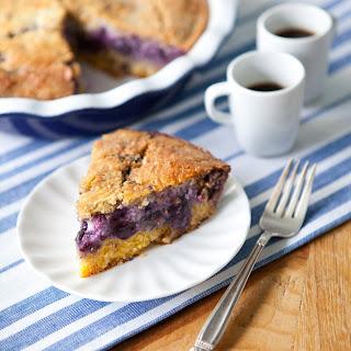Blueberry Cornmeal Custard