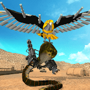Robot Snake VS Falcon Game Transforming Robot Wars