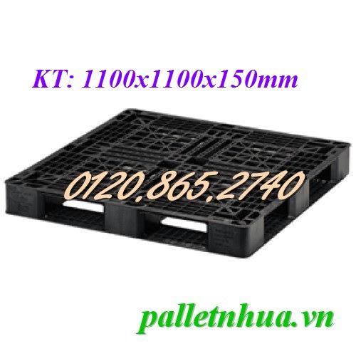 Pallet nhựa 1100x1100x150 - đen