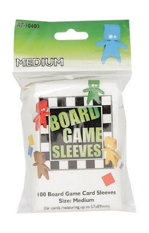 Board Game Sleeves CLEAR MEDIUM (57x89 mm) (100) (Arcane Tinmen)
