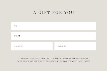 A Gift for You Gray - Gift Certificate Template