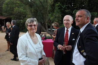 Photo: Welcome at the Gala Evening George Keller, Past President FCS and Frederic Moline, Organisator in Nimes