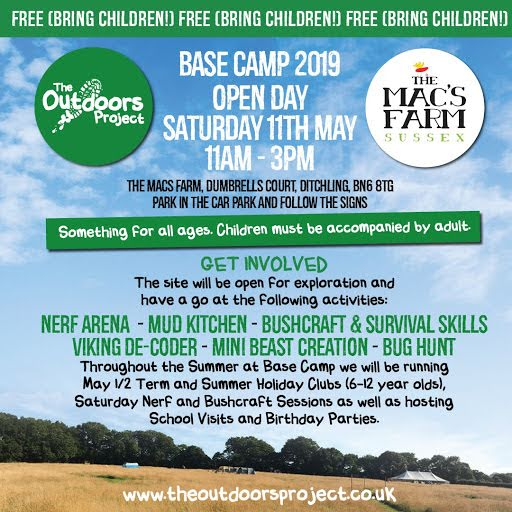 BASE CAMP OPEN DAY & *NEW* SATURDAY CLUB @ THE MACS FARM, DITCHLING