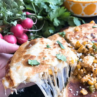 Mexican Street Corn Quesadillas.