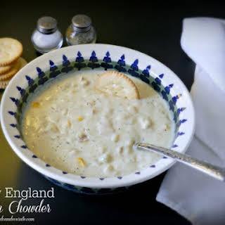 New England Clam Chowder.
