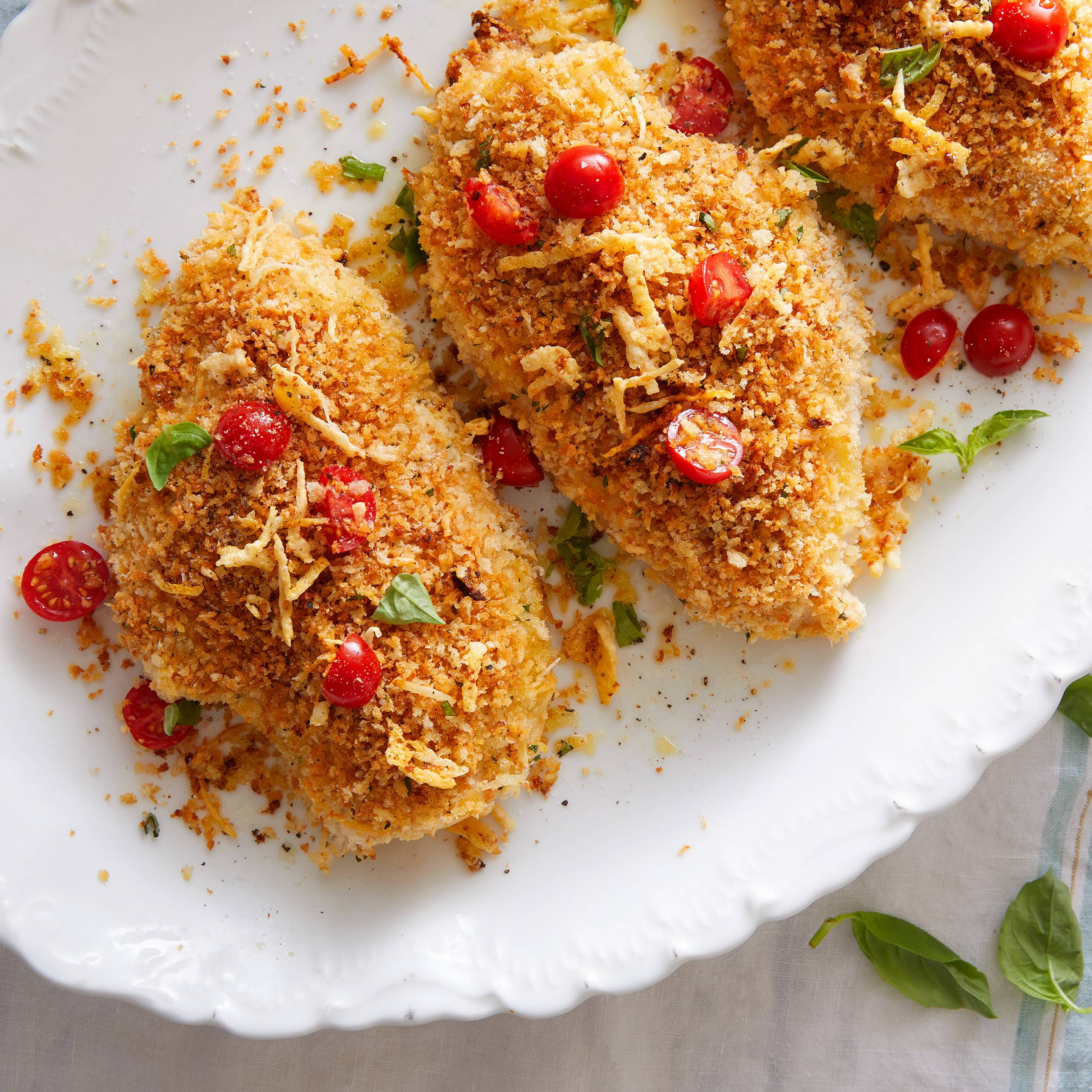 Crispy Panko-Parmesan Chicken Breasts
