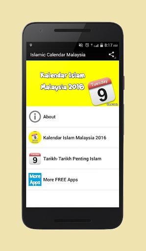 Islamic Calendar Malaysia