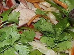 Blueberry Pork Mizuna Salad W/blueberry Vinegarete Recipe