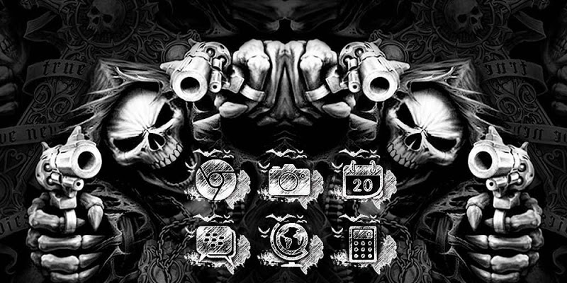 Hell Skull and Gun Theme - screenshot