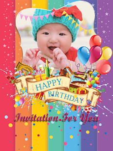 Birthday invitation card frame android apps on google play birthday invitation card frame screenshot thumbnail stopboris Choice Image
