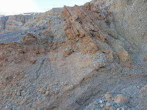 Photo: Ubehebe Crater. Interesting stratigraphy. And faults.